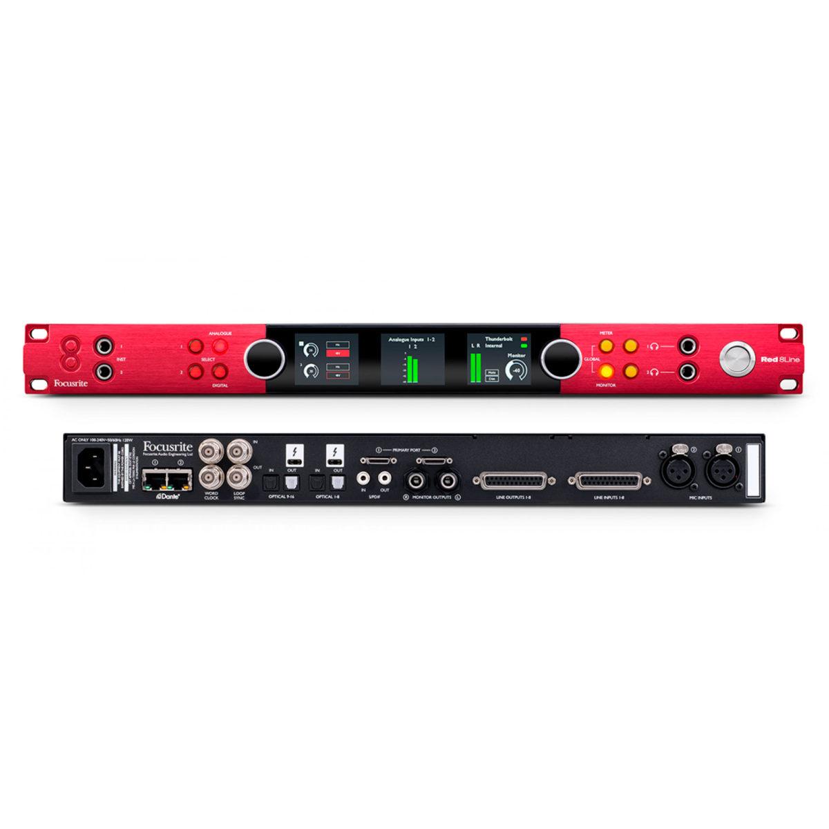 Red-8Line-Focusrite---Interface-de-Audio-Thunderbolt