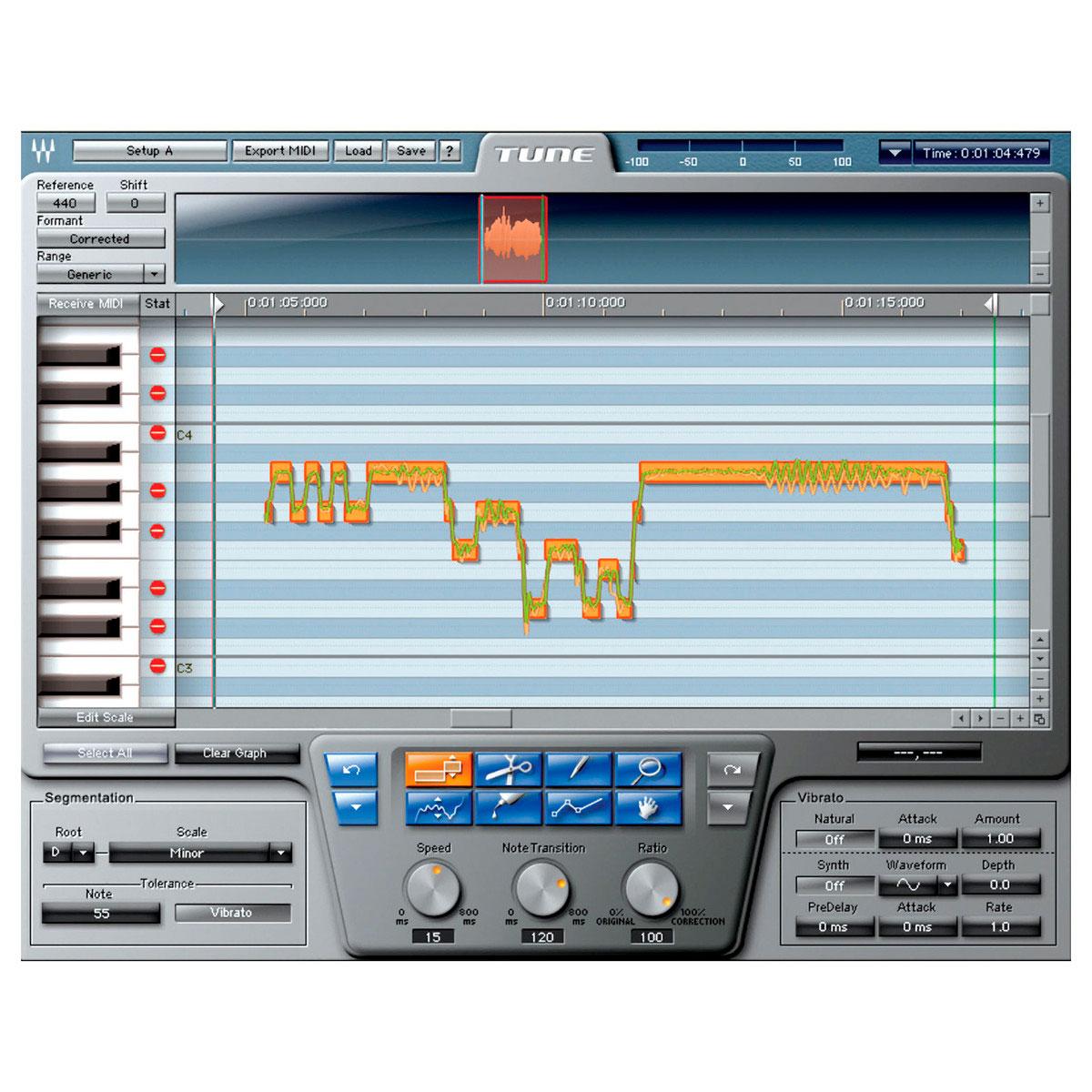 Afinador para voz Waves Tune